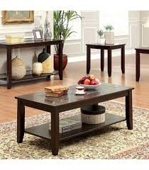 3 pc set mosaic insert coffee table 2 end tables