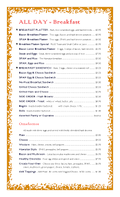 breakfast menu template breakfast menu templates selimtd