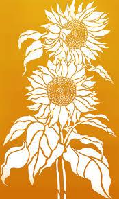 Sunflower Stencil Designs Wonderful Large Sunflower Stencil By Henny Donovan In 2020