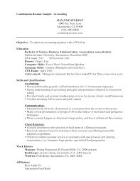 What Is A Combination Resume Combination Resume For Accounting Templates At
