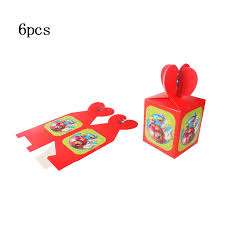 <b>6pcs</b>/lot Cartoon Mario theme party paper candy box <b>baby shower</b> ...