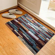 brick wall pattern anti skid water absorption area rug