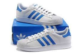 adidas shoes blue and white. adidas superstar men ii blue white shoes and -