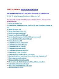 vb script interview questions and answers