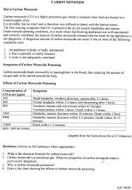 Carbon Monoxide Ppm Chart Carbon Monoxide Poisoning Safety Tips Chemistry Wtf Funny