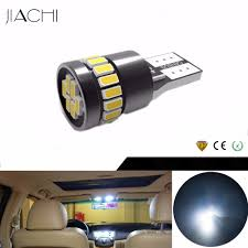 12 Volt Led Interior Lights Us 89 75 21 Off Jiachi 100pcs Wholesale T10 W5w 194 168 501 5w5 Led Car Bulbs Canbus Auto Car Interior Lighting White Yellow Red Blue Dc 12volt In