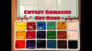 Master S Touch Acrylic Paint Color Chart Trying Out Miya Himi Gouache Set Of 18 Colors