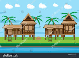 Thai House Designs Pictures Thai House Design Stock Vector Royalty Free 304041422