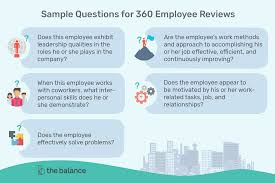 Sample Questions For 360 Employee Reviews