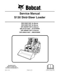 bobcat s130 skid steer loader service manual 6904121 7 09 bobcat s130 skid steer loader service manual 6904121 7 09
