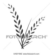 rice plant clipart. Interesting Clipart Clipart  Rice Plant Fotosearch Search Clip Art Illustration Murals  Drawings And And Rice Plant I