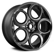 replace 18 remanufactured front 5 round holes all painted charcoal factory alloy wheel