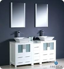 double vessel sink vanity. Modern Double Sink Bathroom Vanity Vessel With Color Faucet And 4