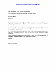 Cover Letter For Resume Sample In Email And Fantastic Templates