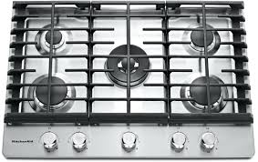 kitchenaid gas stove igniter 5 burner with griddle dual ring stainless steel
