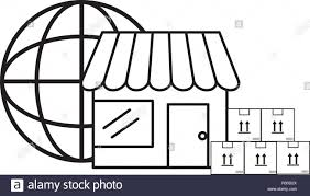 Warehouse Design Online Ecommerce Online Shopping And Delivery Paper Boxes With
