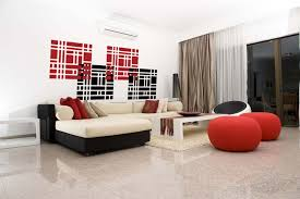 Small Picture Contemporary living space with modern wall decals