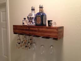 wall mounted wood wine glass rack soulful