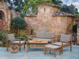 Moderni set da pranzo da giardino in legno beliani.it