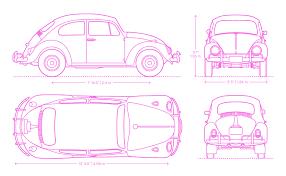 Volkswagen Beetle Type 1 Dimensions Drawings Dimensions