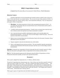dbq essay example on imperialism in assignment secure  imperialism essay