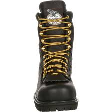 georgia boot waterproof lace to toe work boot waterproof black leather work boots