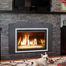 our kozy heat chaska 34g gas fireplace insert can be ordered along with a rock set