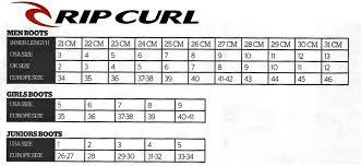 Rip Curl Booties Size Chart Rip Curl Dawn Patrol 5mm Round Toe Boot Rea 399 Ohana Se