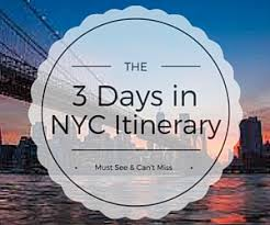 Make A Vacation Itinerary New York Itinerary 3 Days In New York City For First Time