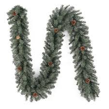 details about holiday living 9 ft x 8 in scottsdale pine holiday artificial garland