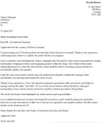 stock assistant cover letter example icoverorguk cover letter for my cv