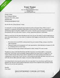 Receptionist Cover Letter Sample Collection Of Solutions Cover