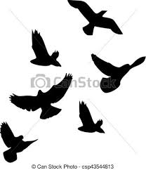 flock of birds clipart. Brilliant Clipart Flock Of Birds For Of Birds Clipart O