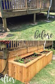 raised garden beds to underpin the porch