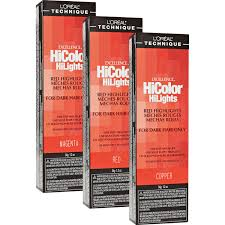 Loreal Hicolor Colour Chart Hicolor Red Hilights Permanent Creme Hair Color