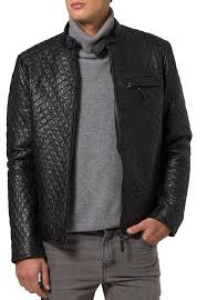 Mens Quilted Leather Jacket, New Men Quilted Motorcycle Jacket ... & Mens quilted leather jacket, New men quilted motorcycle jacket, Mens black biker  jacket, Men jacket Adamdwight.com