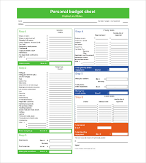 Personal Monthly Budget Spreadsheet Personal Monthly Budget Template Pdf Personal Budget Template 10