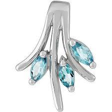 <b>Подвеска с 3 топазами</b> из серебра, классика (3 камней, серебро ...