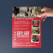 creature comforts leaflet design superlative design lance cc flyer