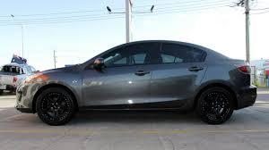 Black Mazda 3 Mazda 3 Custom Rims 18 Inch King Shadow Black Wheels Youtube