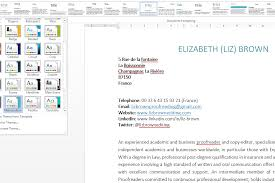 using word styles and themes for your cv using word styles to spruce up your cv