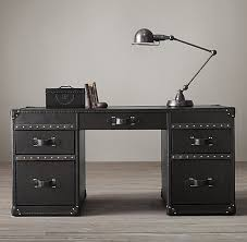 his desk mayfair steamer desk 63 old saddle black