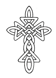 Celtic Cross Coloring Pages Coloringstar