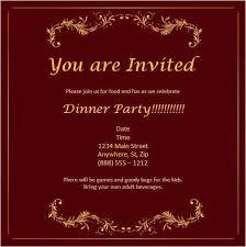Dinner Party Invitation Templates Free Download Melaniekannokada Com