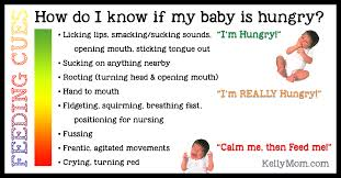 16 Month Old Baby Diet Chart Hunger Cues When Do I Feed Baby Kellymom Com