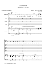 ave verum corpus sheet music ave verum corpus op 2 no 1 choral satb sheet music by by edward