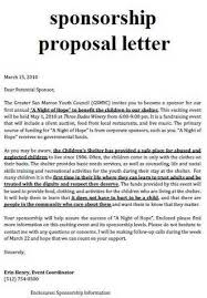 Example Of A Sponsorship Proposal Adorable 48 Inspirational Fundraising Proposal Letter Pics Dynamicditchers