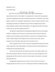 art starry night descriptive essay introduction to arts art 1101 starry night descriptive essay introduction to arts color scheme essay vincent van gogh starry night artist vincent van gogh created the