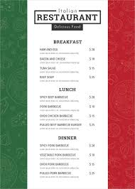 A La Carte Menu Template Design Templates Menu Wedding Food Bar Template Restaurant