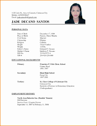 Basic Resume Template14 11 Sample Simple | Mhidglobal.org